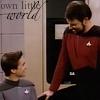 wesley/riker own little world