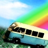 heart283: rainbow vw van