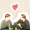 xmen charles erik picnic heart