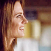 Kate Beckett: smiling at Castle