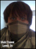 shaggy hair, scarf ninja