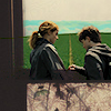 dess: [Magic] Hermione and Harry - dh - green