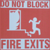 Misc - Do Not Block Fire Exits