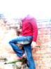 красный, пиджак, кирпич, стиль, стена