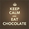 Keep calm and eat chocolate icon