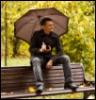 осень, зонт, я