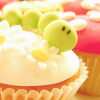 Food: Green/White Cupcake