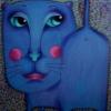 синяя кошка