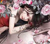 girl in roses