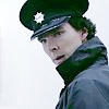 Sherlock in uniform