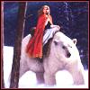 Christmas polar bear, winter