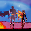 batman - and robin walking
