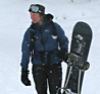 with snowboard