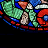 stained glass, intestines all over the place
