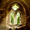 window in a ruined church, ruin