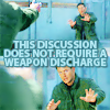 Discussion / no weapons discharge