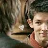 Merlin smirk heart