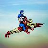 Avengers Tony/Steve flying riding