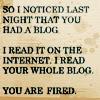blog has been naughty
