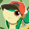 snivy with hat