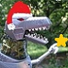 Christmas-Grimlock with Santa hat