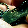 wolfrider89: X dog tags wolvie