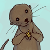 Otter wearing a Samulet