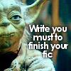 Yoda write you must