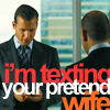 Campaspe: Suits \\ Harvey & Louis; pretend wife