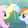Julie: MLP ★ fluttershy - rainbow dash