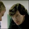 Sherlock glaring