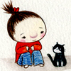 девочка и кошка 7