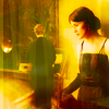 DOWNTON ABBEY: Mary looking at Matthew