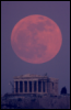 full moon over Parthenon
