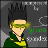 weather wizard, green spandex