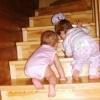 по лестнице