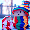 cute ダンボール: winter is cold