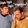 kirk migraine, spock logic