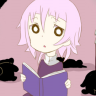 chrona, crona, reading, chibi