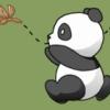 панда скачет