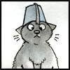 stunned fez cat