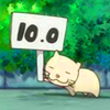 anime, perfect, cat, Bamboo Blade, ten points