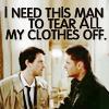 SPN - Dean/Cas Tear off my clothes