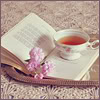 книга, чай