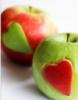 яблоки-сердечки