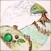 drawing, pooh, hobbit, hobbiton, 100 acre wood