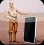 робот и айфон