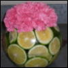 pink, bowl, lime, Carnation
