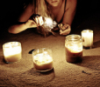 candles and the sand