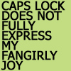 general: fangirly joy